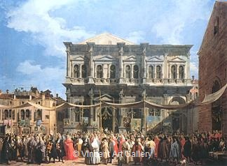 Feast of San Rocco by   Canaletto