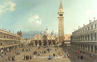 Piazza San Marco with the Cathedral by   Canaletto