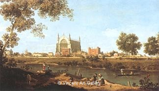 The Chapel of Eton College by   Canaletto