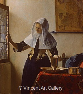 Young Woman with a Water Jug by Johannes  Vermeer