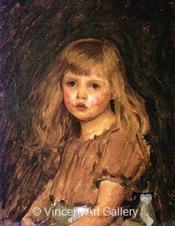 Portrait of a Girl by J.W.  Waterhouse