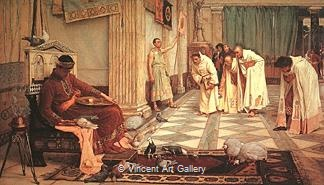 The Favorites of the Emperor Honorius by J.W.  Waterhouse