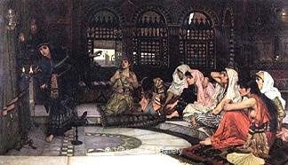 Consulting the Oracle by J.W.  Waterhouse