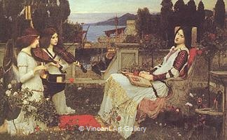 St. Cecilia by J.W.  Waterhouse