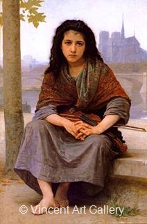 The Bohemian by W.A.  Bouguereau
