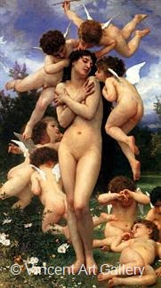 The Return of Spring by W.A.  Bouguereau