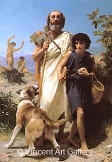 Homer and his Guide by W.A.  Bouguereau