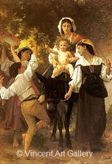 Return from the Harvest by W.A.  Bouguereau