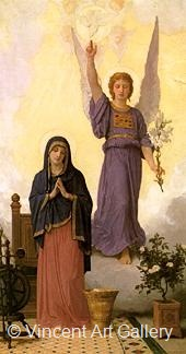 The Annunciation by W.A.  Bouguereau
