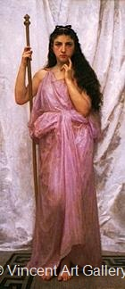Young Priestess by W.A.  Bouguereau