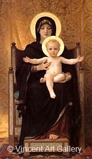 Virgin and Child by W.A.  Bouguereau