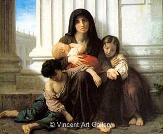 Indigent Family (Charity) by W.A.  Bouguereau