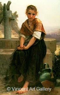 The Broken Pitcher by W.A.  Bouguereau
