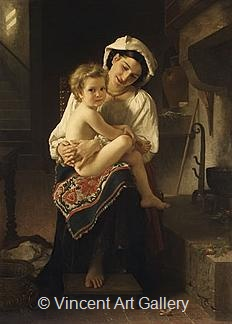 Young Mother gazing at her Child by W.A.  Bouguereau