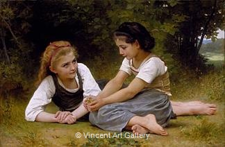 The Nut Gatherers by W.A.  Bouguereau