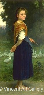 The Goose Girl by W.A.  Bouguereau