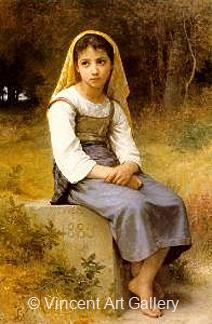 Meditation by W.A.  Bouguereau