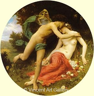 Psyche and Cupid by W.A.  Bouguereau