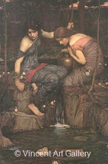Nymphs finding the Head of Orpheus by J.W.  Waterhouse