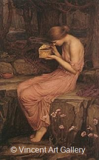 Psyche opening the Golden Box by J.W.  Waterhouse