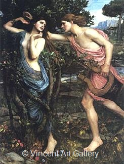 Apollo and Daphne by J.W.  Waterhouse