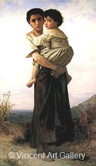 The Gipsies by W.A.  Bouguereau