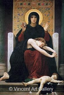 Virgin of Consolation by W.A.  Bouguereau