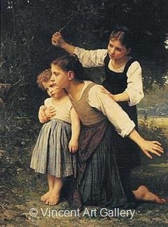 In the Woods by W.A.  Bouguereau