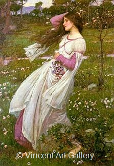 Windflowers by J.W.  Waterhouse