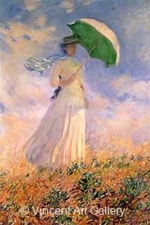 Woman with a Parasol (right) by Claude  Monet