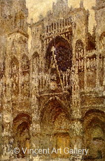 Rouen Cathedral, Full Sunlight by Claude  Monet