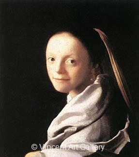 Portrait of a Young Woman by Johannes  Vermeer