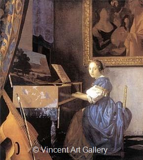 Lady Seated at a Virginal by Johannes  Vermeer