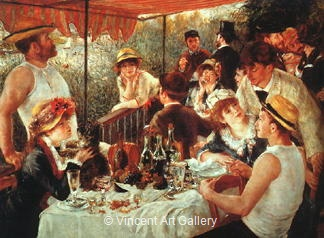 The Canoeists' Luncheon by Pierre-Auguste  Renoir