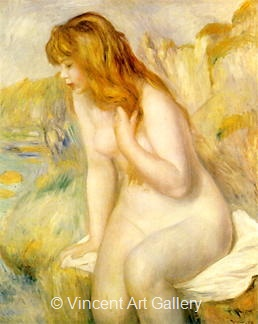 Bathing Girl by Pierre-Auguste  Renoir