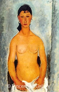Standing Nude - Elvira by Amedeo  Modigliani