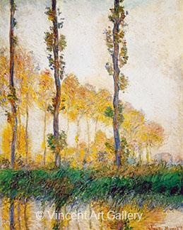 Three Trees in Autumn by Claude  Monet