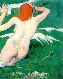 Woman in the Waves by Paul  Gauguin