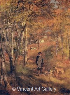 Jules Le Coeur in Fontainebleau Forest by Pierre-Auguste  Renoir