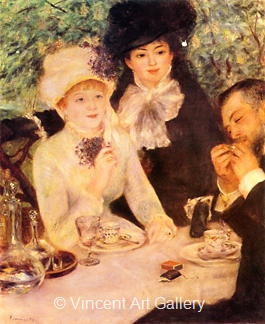The End of the Lunch by Pierre-Auguste  Renoir