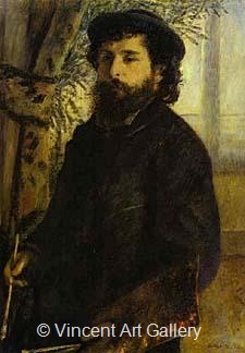 Portrait of Monet by Pierre-Auguste  Renoir