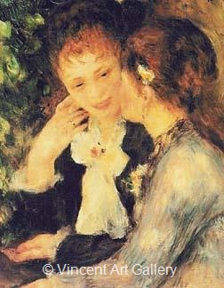 Confidences by Pierre-Auguste  Renoir