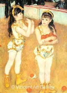Two Little Circus Girls by Pierre-Auguste  Renoir