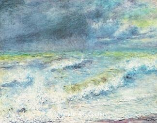 The Wave by Pierre-Auguste  Renoir