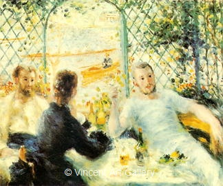 The Luncheon at the Riverbank by Pierre-Auguste  Renoir
