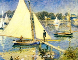 The Seine at Argenteuil by Pierre-Auguste  Renoir