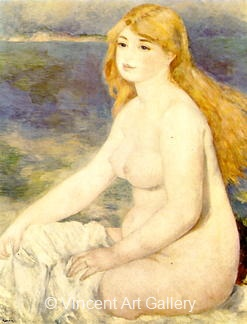 The Blond Bather by Pierre-Auguste  Renoir