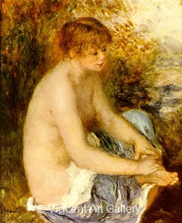 Little Nude in Blue by Pierre-Auguste  Renoir