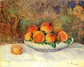 Still Life with Paches by Pierre-Auguste  Renoir