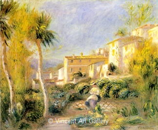 The Post-Office House at Cagnes by Pierre-Auguste  Renoir